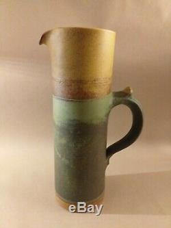 Vintage ROBIN WELCH Studio Pottery Stoneware Tall jug 34.8cm