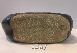 Vintage Raku Pottery Vase Stamp Signed In Bottom By Art Pottery Studio EXCELLENT