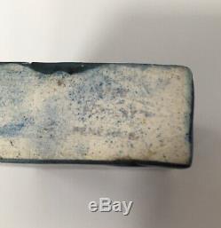 Vintage Rare Early Carn Pottery Trapezium Vase John Beusman Black Blue Green