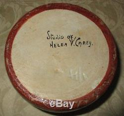 Vintage Rare Signed Helen V. Carey Studio Hand Painted Bauer Pottery 6x4