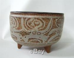 Vintage Raymond Gallucci Studio Pottery Bowl Vase 3 feet Nude People Modernist