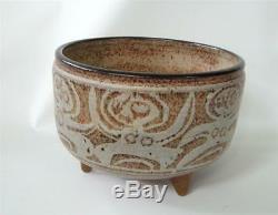 Vintage Raymond Gallucci Studio Pottery Bowl Vase Modernist 3 feet Nude People