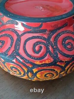 Vintage Raymor Alviro Bagni Italy Studio Art Pottery Mid Century Ashtray Bowl