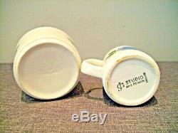 Vintage Retro J&G Meakin Studio Pottery Coffee Set Topic (Blue Flower 15 Pieces)