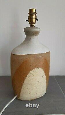 Vintage Retro Studio Pottery Large Lamp Tremaen, Cornwall Sandy / Beach Tones