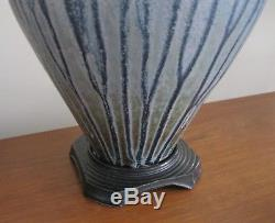Vintage Richard Aerni Large Studio Pottery Vessel Lidded Pot Urn Vase Estate