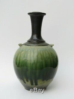 Vintage Richard Aerni Studio Pottery Porcelain Vase Ash Glazed Signed 1999