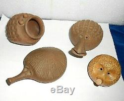 Vintage Robert Maxwell Studio Pottery Critters Lot Signed Mid Century