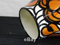 Vintage SMF Schramberg Studio Hand Painted Art Deco Style Art Pottery Vase