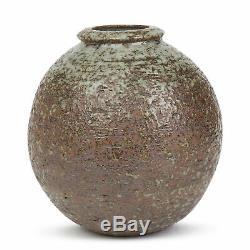 Vintage Scandinavian Grey Glazed Studio Pottery Vase 20th C