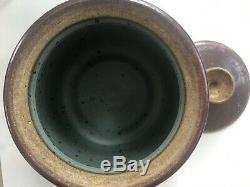 Vintage Set of Raymond Gallucci Contemporary Art Studio PA Pottery 2 Lidded Pot
