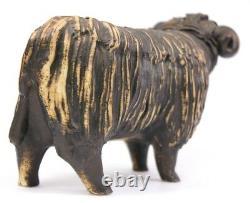 Vintage Sheep Studio Art Pottery Ram Figurine Signed 20th Century