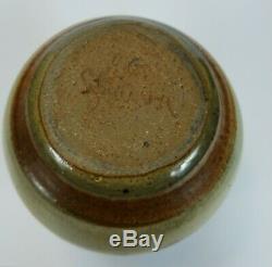 Vintage Signed Gib Cecil Strawn Handcrafted Studio Pottery Art Stoneware Vase