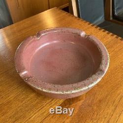 Vintage Signed Harding Black Studio Pottery Ash Tray 1956 Heavy Glaze Large