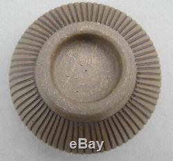 Vintage Signed J. Edward Barker Incised Modernist Studio Pottery Bowl 1991