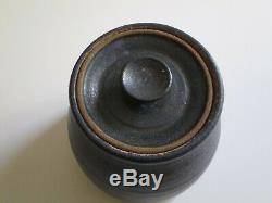Vintage Signed Lidded Pot Studio Pottery Ceramic Modernism Jar Sculpture Mystery