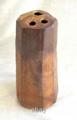 Vintage Slab Studio Art Muti Opening/Frog Vase, Signed Tom McMillin