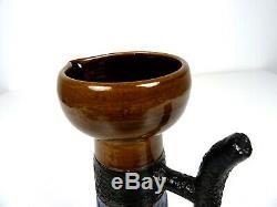 Vintage Spanish Studio Pottery MID Century Ceramic Vase Picasso Horse Glaze