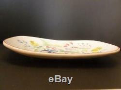 Vintage Stig Lindberg Gustavsberg Sweden Painted Flower Studio Pottery Tray