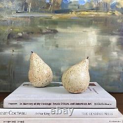 Vintage Stoneware Studio Pottery Pear Sculptures