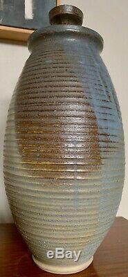 Vintage Stoneware Vase Jug Vessel Urn Mid Century Modern Studio Pottery Deyoe I