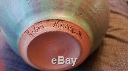 Vintage Studio Art North Carolina Pottery Vase Signed Robin Mangum 2000