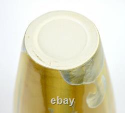 Vintage Studio Art Pottery 5-Lobed Vase with Crystalline Glaze signed
