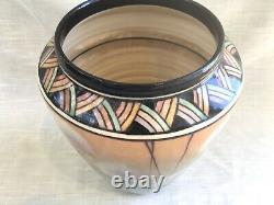 Vintage Studio Art Pottery Art Deco Dandelion Vase, Signed Kenyon Thomas