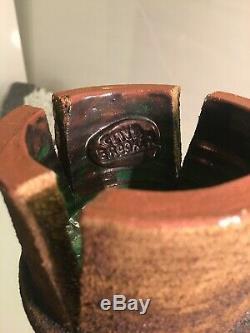 Vintage Studio Art Pottery Clive Brooker Artist Potter Midcentury Ikebana Vase