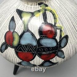 Vintage Studio Art Pottery Lamp Base Tripod Mid Century Modern Atomic 50s 60s