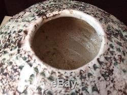 Vintage Studio Art Pottery Large textured Vase Vessel Mid Century