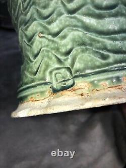 Vintage Studio Art Pottery Stoneware Tea Pot 4 Mugs & Tray Artist Signed Wow