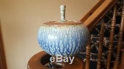 Vintage Studio Art Pottery Vase Lidded Spring Street Richard Aerni Michael Frasc