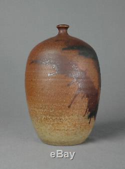 Vintage Studio Art Pottery Vase MID Century Weed Pot Ceramic Signed