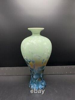 Vintage Studio Art Pottery Vase with Crystalline Glaze