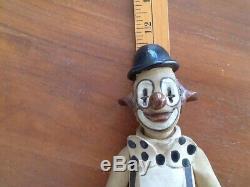 Vintage Studio Clown Handmade By Elizabeth Haslam 1970's