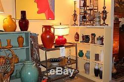 Vintage Studio Folk Southern Country Pottery Crock Lamp Signed
