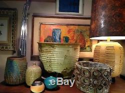 Vintage Studio Pottery Abstract Planter Bernard Rooke Era