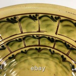 Vintage Studio Pottery Dairy Bowl Wetheriggs Penrith 34.5cm In Diameter