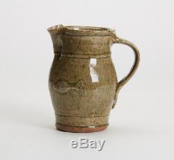 Vintage Studio Pottery Fish Jug Mervin Walsh St Ives