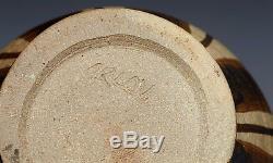 Vintage Studio Pottery Lidded Matt Glazed Jar Signed Orlov 20th C