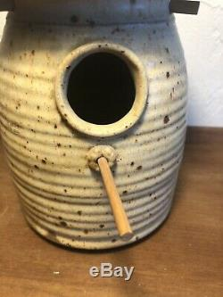 Vintage Studio Pottery MEL JACOBSON BIRDHOUSE 1960s