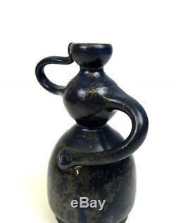 Vintage Studio Pottery MID Century Ceramic Vase By M. F. Nicolaisen Danish Modern