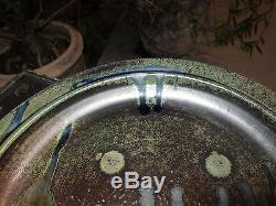 Vintage Studio Pottery Stoneware Glazed Plate 15 inches signed