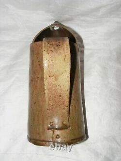 Vintage Studio Pottery Walter Keeler Oil Can Jug Salt Glaze Stoneware Sign Mark