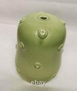Vintage Susie Cooper Signed Studio Pottery Retro Green Knobble Lamp Shade Base