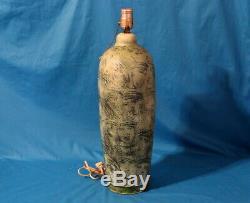 Vintage T & S Harlander Brooklin Ontartio Canadian Art Pottery Studio Lamp