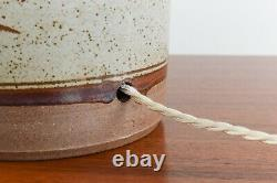 Vintage Table Lamp Studio Pottery Base by Donald John Glanville Pleated Shade