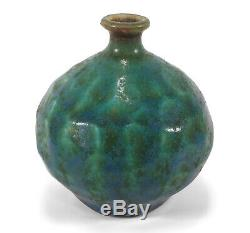Vintage Textured California Studio Pottery Weed Pot Cabinet Vase Steve Salisian