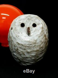 Vintage Thomas Tommy Kakinuma Tk Canadian Sudio Pottery Studio 6.5owl Sculpture